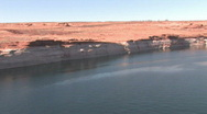 Stock Video Footage of Lake Powell Glen Canyon Dam pan P HD