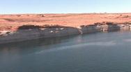 Stock Video Footage of Lake Powell Glen Canyon Dam pan P HD