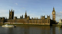 The House of Parliament, London Stock Footage