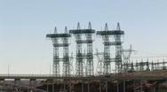 Stock Video Footage of Glen Canyon Dam bridge power Arizona fast P HD