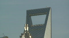 Tilt Down Huge Shanghai Skyscrapers Stock Footage