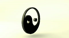 3D Rotating ZEN - Ying Yang symbol, loopable Stock Footage