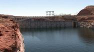 Stock Video Footage of Glen Canyon Dam closer Arizona P HD