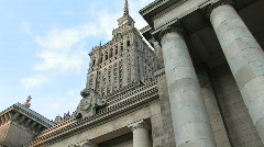 Warsaw - Palace of Culture 8 Stock Footage