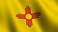 New Mexico state flag - seamless loop Stock Footage