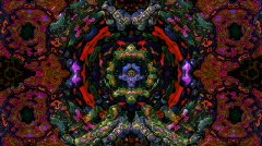 Textured kaleidoscope Stock Footage