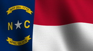North Carolina state flag - seamless loop Stock Footage