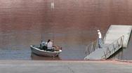 Stock Video Footage of Lake Powell Arizona boat ramp zoom P HD