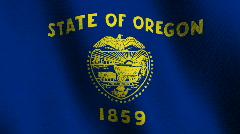 Oregon state flag - seamless loop Stock Footage