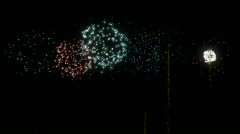 Animated Fireworks Explode with Alpha Channel Stock Footage