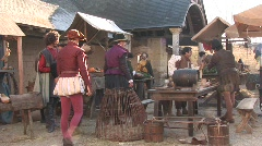 Medieval decor 2 - Shooting movie making of - stock footage