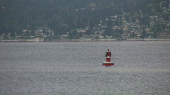 Red buoy. Stock Footage