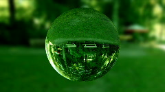 Glass orb or dew,environmental conservation concept,looping Stock Footage