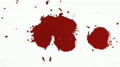 HD Blood Splat on White x3 Stock Footage