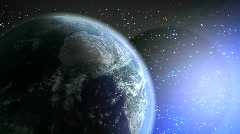Very realistic planet earth Stock Footage
