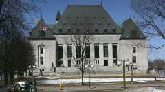 Canadian Supreme Court Ottawa Canada Stock Footage
