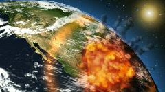 Stock Video Footage of Dinosaur Meteor