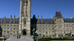 Parliament Hill Centre Block With Peace Tower Stock Footage