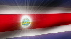 Flag FX - Costa Rica - HD24p Stock Footage