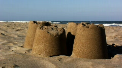 Castles made of sand Stock Footage
