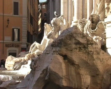Jan 4 2009. Fountain di Trevi in Rome. Italy. Stock Footage