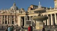 Jan 4 2009 . Panorama of Saint Peter's Square. Vatican. Stock Footage