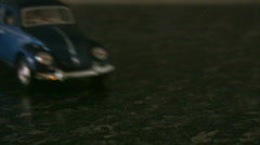 Classic Car Toy Close-up Stock Footage