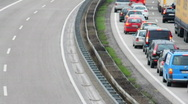 HD720p Traffic jam on german highway (autobahn) Stock Footage