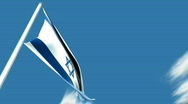 Israeli flag Stock Footage