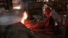 Myanmar:  Making Rice Noodles Stock Footage