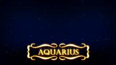 Aquarius - Plashka Stock Footage