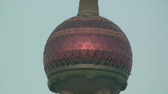 Shanghai's Pearl Of The Orient TV Tower Stock Footage
