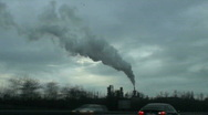 Stock Video Footage of Pollution from an industry