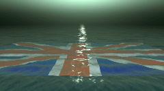 British Flag At Sea Stock Footage