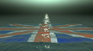 Stock Video Footage of British Flag At Sea