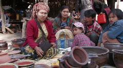 Myanmar: Market shot Stock Footage