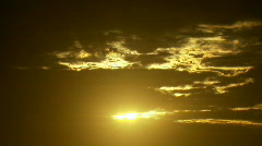 Heavenly Clouds  - Sun Streaming Golden Sky Cloudscape Stock Footage