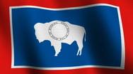 Wyoming state flag - seamless loop Stock Footage