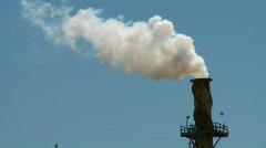 smokestack smoke pollution (HD) c - stock footage