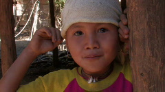Karen Refugees: Child in the Camps Stock Footage