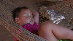 Karen Refugees: Sleeping peacefully Stock Footage