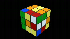 3d Rubik cube getting solved  - stock footage