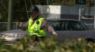 The Scene Of A Car Crash Stock Footage