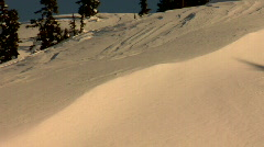 Snowboard pow carve slash HD Stock Footage