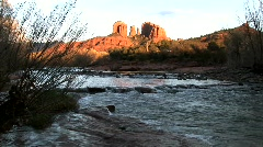 Cathedral rock red rock crossing sedona arizona Stock Footage