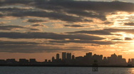 Stock Video Footage of Boston skyline harbor sunset3