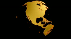 World Gold, alpha included. Loop HD 1080p Stock Footage