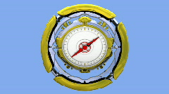 Compass, alpha included. Loop HD 1080p Stock Footage