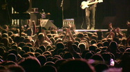 Concert people slow motion Stock Footage