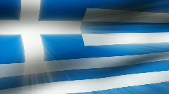 Flag FX - Greece - HD24p Stock Footage